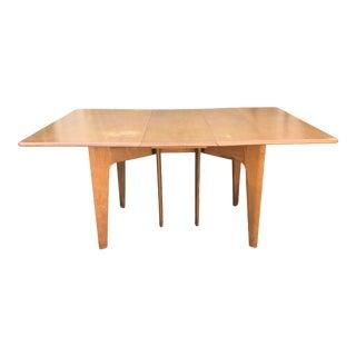 Vintage Mid Century Modern Heywood Wakefield Drop Leaf Table For Sale