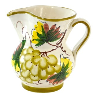 Tuscan-Style Grape Pitcher For Sale