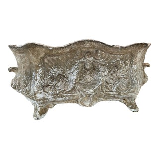 Mid 19th Century French Rococo Cast Iron Planter For Sale