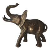 Image of Vintage Lucky Brass Elephant For Sale