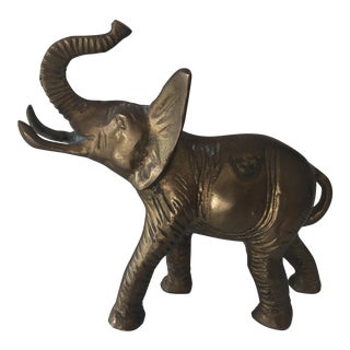 Vintage Lucky Brass Elephant For Sale