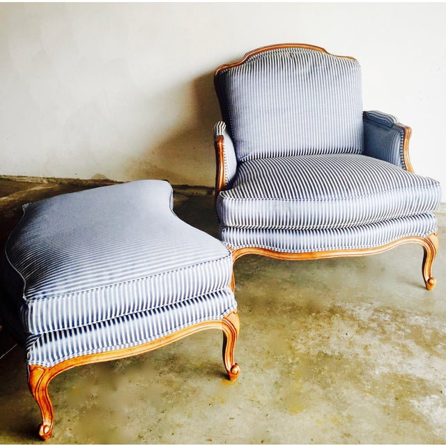 Vintage Heritage Bergere Chair & Ottoman - Image 10 of 10