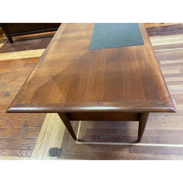 Mid 20th Century Alma Walnut + Mahogany Castilian Series Desk For Sale - Image 9 of 13