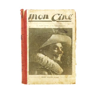 "1920s Antique French ""Mon Ciné"" Cinema Magazines Bound as a Book For Sale"