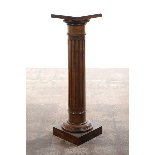 Antique Carved Colonial Walnut Pillar Pedestal - Image 8 of 10