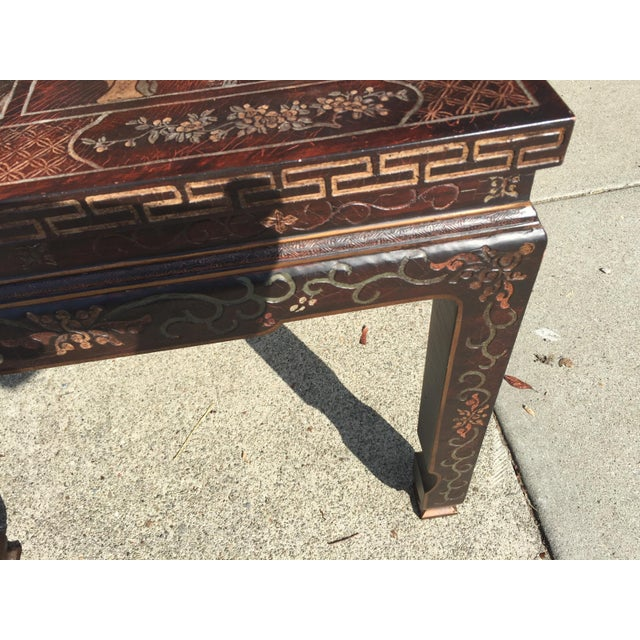 Baker Furniture Chinoiserie Side Table - Image 4 of 8