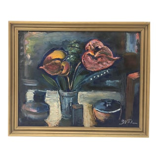 European Still Life Painting of Flowers For Sale