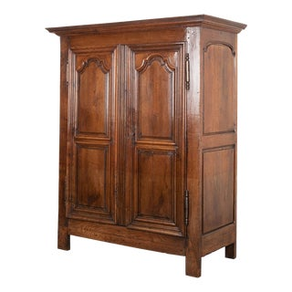French 19th Century Louis XIII Style Oak Armoire For Sale
