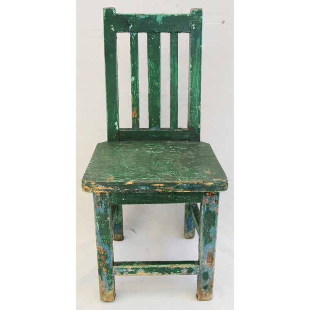 Early 1900s Primitive Country Child's Chair - Image 3 of 9