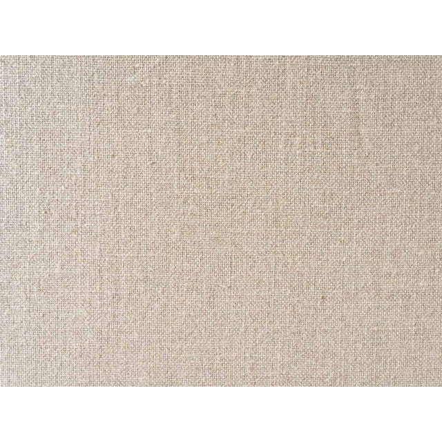 Ainsley Linen Upholstered Panel Screen For Sale - Image 4 of 6