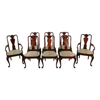 Baker Furniture Company George III Queen Anne Mahogany Dining Chairs - Set of 8 For Sale