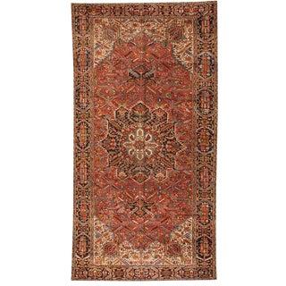 Antique Oversize Persian Heriz Carpet For Sale