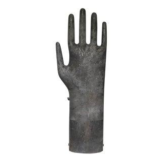 Vintage Mountable Aluminum Glove Mold C. 1950-1960s For Sale