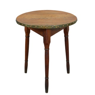 English Cricket Table With Brass Banding For Sale