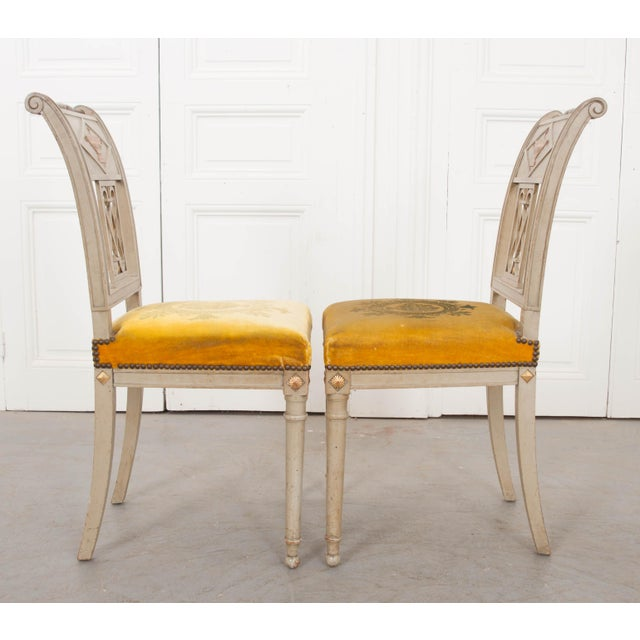 French French 19th Century Neoclassical Style Side Chairs - a Pair For Sale - Image 3 of 11