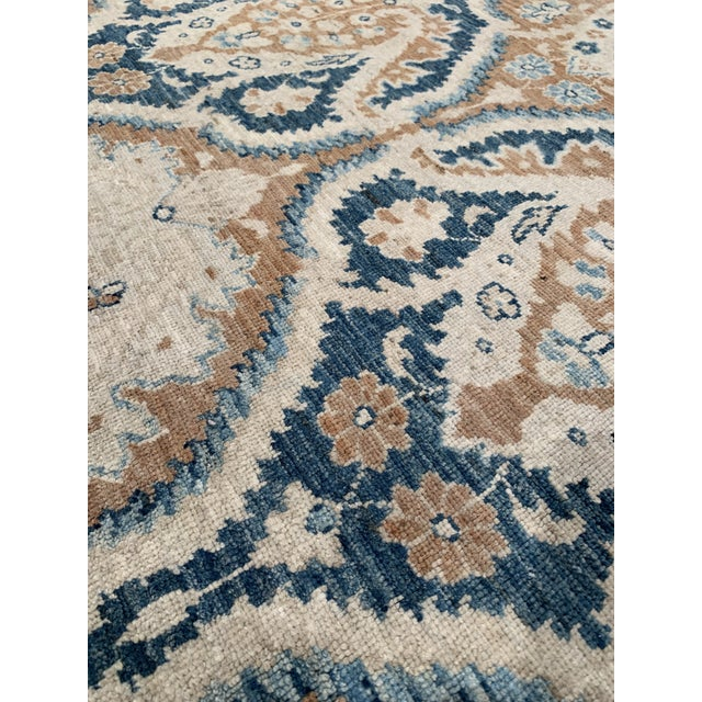 Blue Traditional Pasargad 21st Century Tabriz Haj Jalili Hand-Knotted Rug - 9′9″ × 13′10″ For Sale - Image 8 of 9
