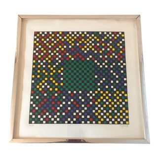 """""""Variation 1"""" Original Color Serigraph Print 21/100 Signed by Ian Tyson For Sale"""