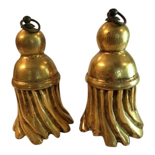 18th Century Antique Giltwood Tassels - a Pair For Sale