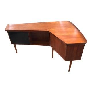 Mid-Century Teak Executive Desk by Arne Vodder For Sale