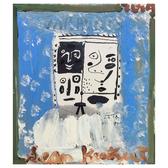 'Blue Boy' Framed Picasso Poster Painting by Sean Kratzert For Sale