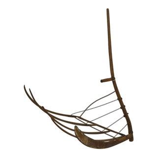 Antique Ash Cradle Scythe For Sale