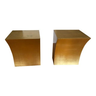 Curved Wood Gold Brackets by Exposure Italy, 1999 - a Pair For Sale