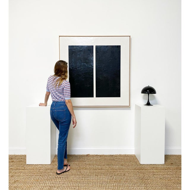 Art Dimensions: 48 x 48 h inches Framed Dimensions: 49 x 49 h inches Beautiful maple float frame. Forsyth is proud to be...