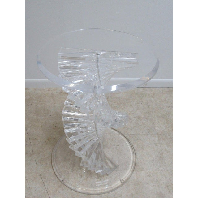 Vintage Interior Concepts Stack Lucite Dinette Dining Table For Sale - Image 10 of 11