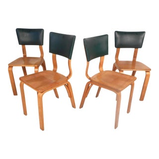 Midcentury Bentwood Chairs by Thonet, Set of 4 For Sale