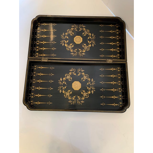1950s Chinese Hand Painted Lacquered Game Board For Sale - Image 5 of 13