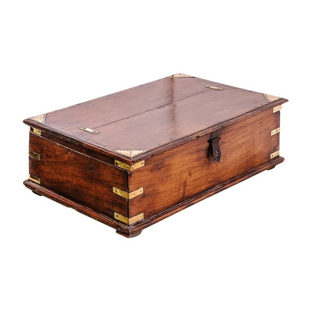 Brown Oak box For Sale - Image 8 of 8