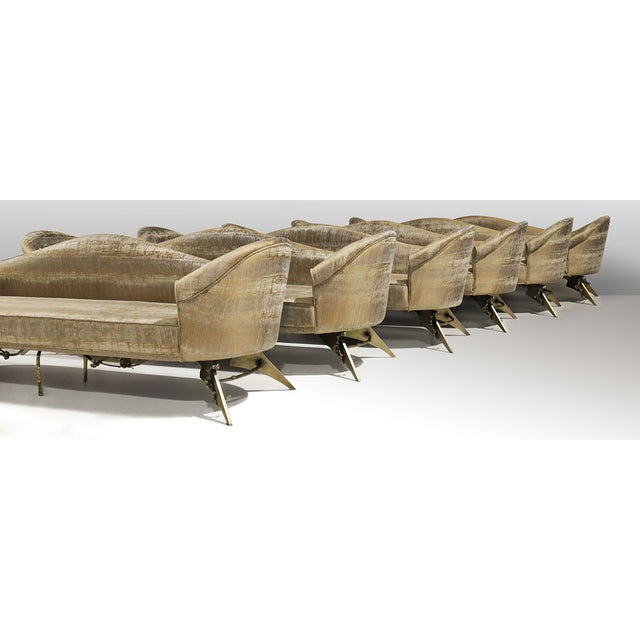 Gold Collete II Sofa From Covet Paris For Sale - Image 8 of 9