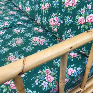 Bamboo Chintz Green Upholstered Sleeper Sofa Preview