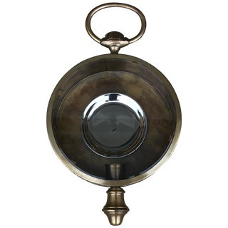 1960s Italian Brass 'Pocket-Watch' Style Indoor or Outdoor Wall Sconce For Sale