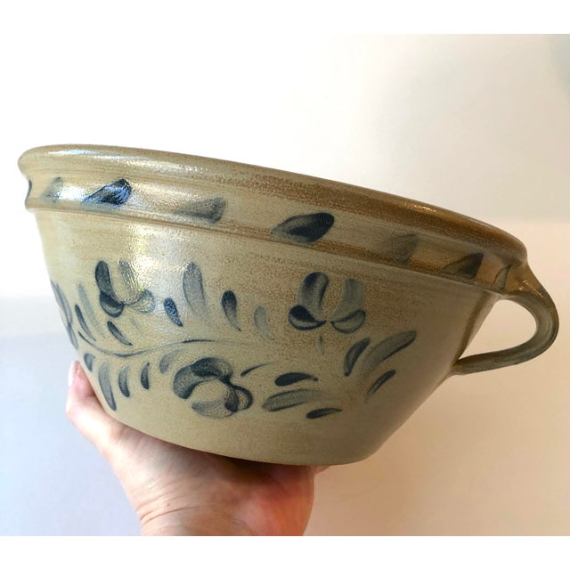 Gorgeous Wisconsin Pottery of Columbus WI. Handled bowl in the the Early American stoneware, salt-glazed style is an...
