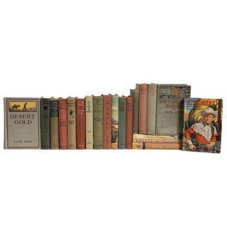 Life in the Old West Earth Tone Book Set, (S/20) For Sale