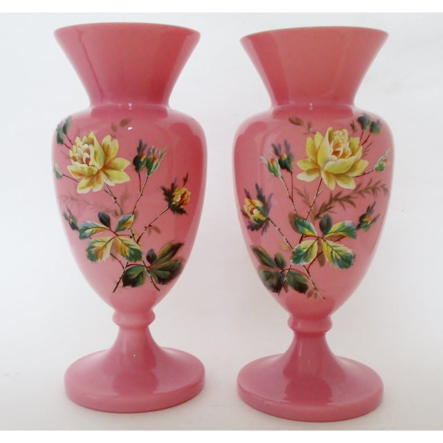 Antique English Glass Vases A Pair Chairish