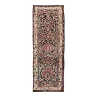 1970s Vintage Hamedan Persian Rug Runner - 3′6″ × 9′4″ For Sale