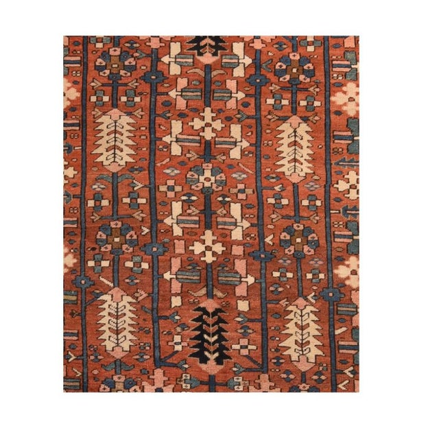 Antique Handmade Heriz Persian Rug For Sale - Image 4 of 5