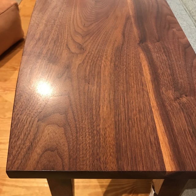 Handcrafted Walnut Curved Console Table For Sale - Image 10 of 13