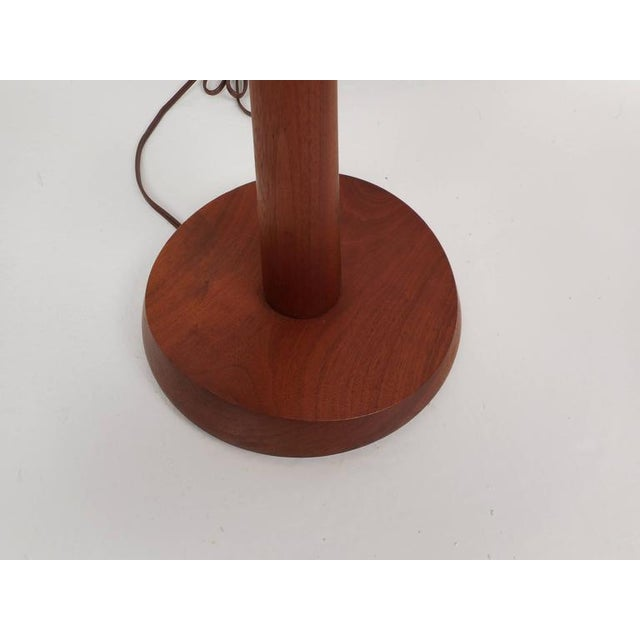 Mid-Century Modern Teak Table Lamps - a Pair For Sale In New York - Image 6 of 6