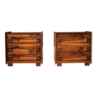 Vintage Rosewood Inter-Continental Design Limited Nightstands - A Pair For Sale