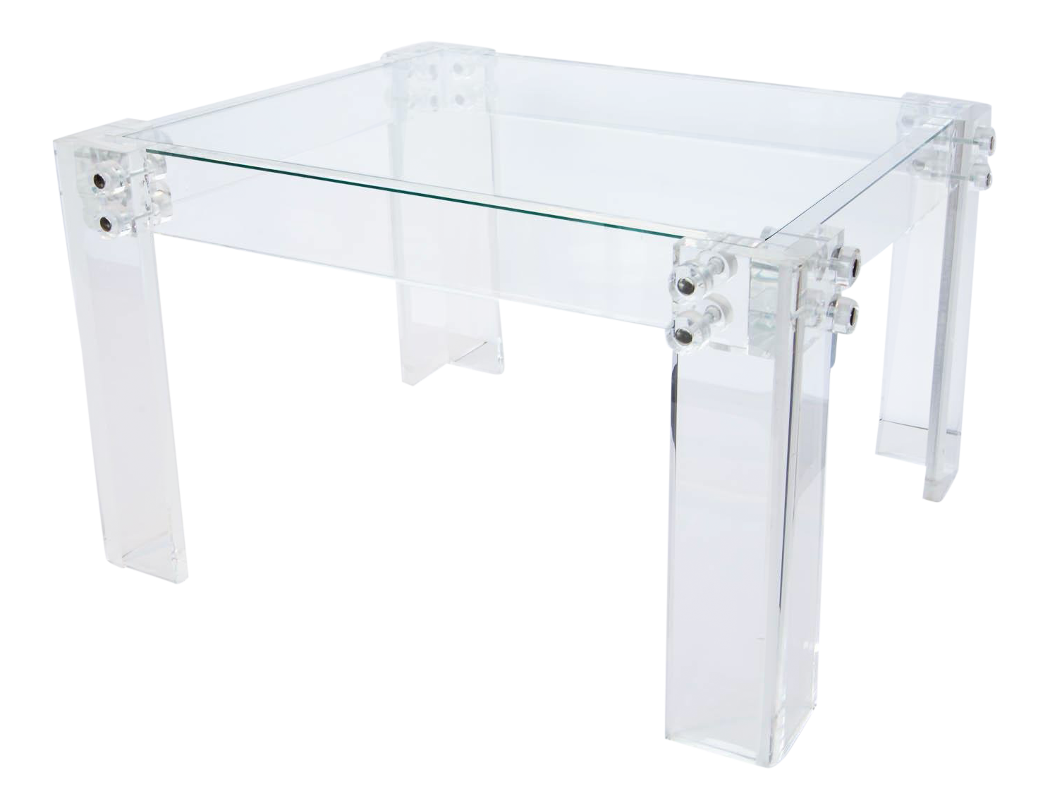 Lucite And Glass Coffee Table Chairish