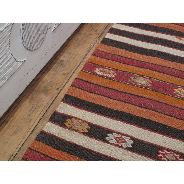 Islamic Banded Kilim For Sale - Image 3 of 7