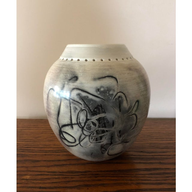 White Final Price! Ceramic Signed Pottery Vase For Sale - Image 8 of 8