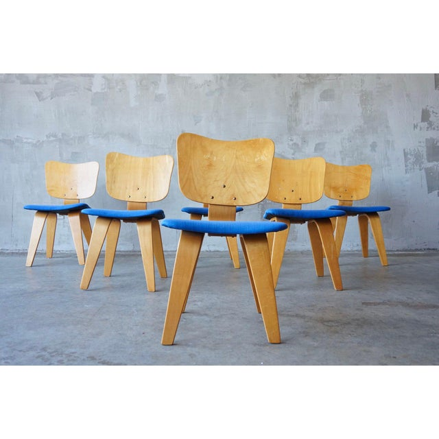 1940s Set of 6 Thaden Jordan Dining Chairs For Sale - Image 5 of 8