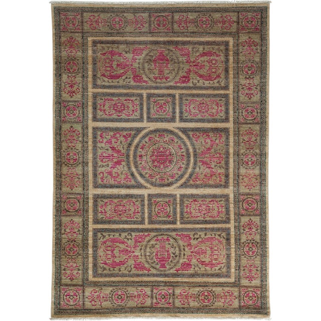 "Ziegler Hand Knotted Area Rug - 5'0"" X 7'2"" For Sale"