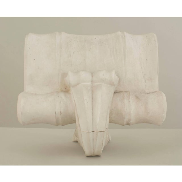 French French 1940s Neoclassic White Plaster Capital Wall Sconces - a Pair For Sale - Image 3 of 9