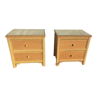Vintage Henry Link Side Tables-a Pair For Sale