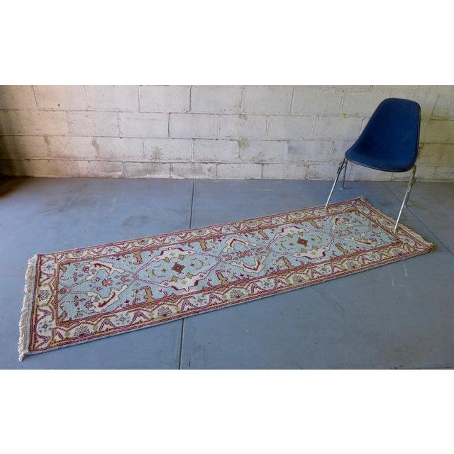 "Vintage Handmade Oushak Wool Runner Rug - 2'5"" x 8' - Image 3 of 5"